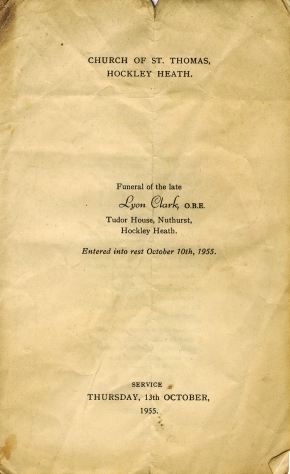 Funeral Service of Lyon Clark